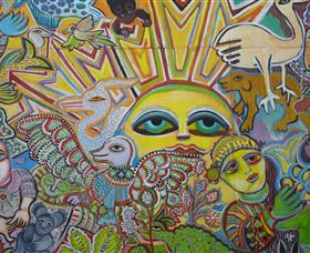 The Painting of Life by Mirka Mora - Accommodation NT