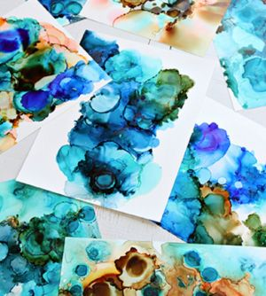 Alcohol Ink Art Class - Accommodation NT
